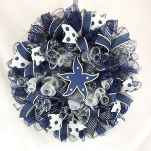Nautical light up Starfish Wreath